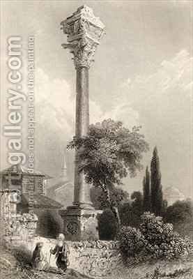 Column of Marcian, Istanbul, Turkey by (after) Bartlett, William Henry - Reproduction Oil Painting