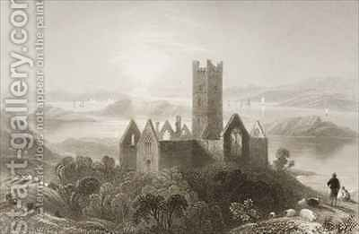 Roserk Abbey, County Mayo, Ireland by (after) Bartlett, William Henry - Reproduction Oil Painting