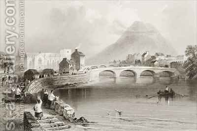 Ballina, County Mayo by (after) Bartlett, William Henry - Reproduction Oil Painting