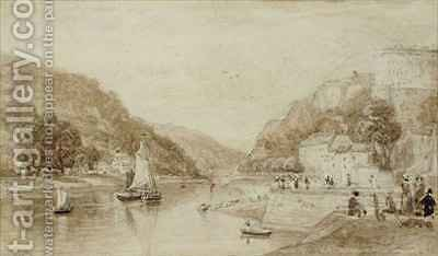 Hotwells near Bristol by (after) Bartlett, William Henry - Reproduction Oil Painting