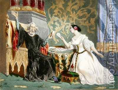Rosine Stolz (1815-1903) and Paul Barroilhet (1810-71) in Act II of the opera 'Charles VI' by (after) Baron, Henri - Reproduction Oil Painting
