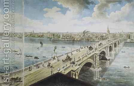 Panoramic view of London 2 by (after) Barker, Robert - Reproduction Oil Painting