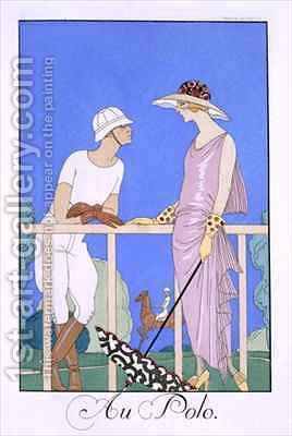 At Polo by (after) Barbier, Georges - Reproduction Oil Painting