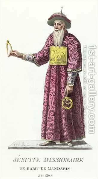 Jesuit Missionary in Mandarin Costume by (after) Bar, J. C. - Reproduction Oil Painting