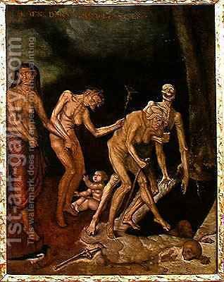 The Walk to Death by (after) Baldung Grien, Hans - Reproduction Oil Painting