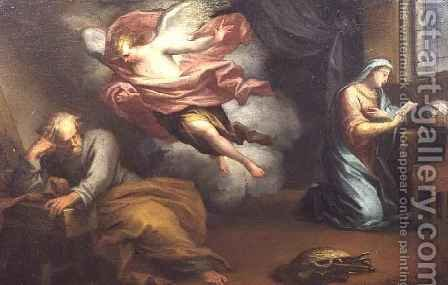The Angel appearing to Joseph by Giuseppe Badarocco - Reproduction Oil Painting