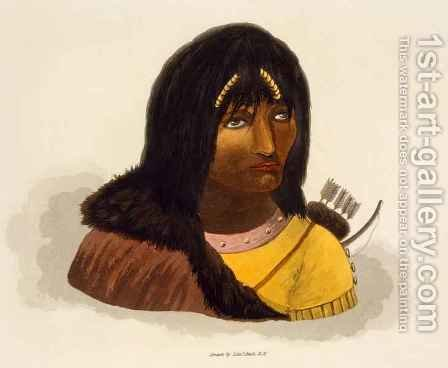 Portrait of a Stone Indian by (after) Back, George - Reproduction Oil Painting