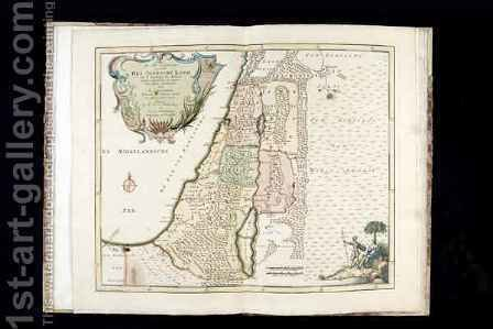 Map of the Jewish Land Under the Romans by (after) Bachiene, Willem Albert - Reproduction Oil Painting