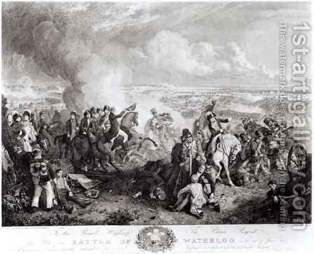 The Battle of Waterloo by (after) Atkinson, John Augustus - Reproduction Oil Painting