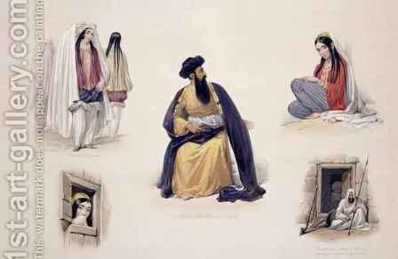 A Portrait of His Majesty Shah-Soojah-Ool-Moolk (1780-1842), from 'Sketches in Afghaunistan' by (after) Atkinson, James - Reproduction Oil Painting