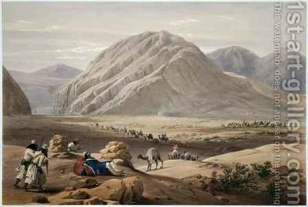 View of the Baba-Naunee Mountain, from 'Sketches in Afghaunistan' by (after) Atkinson, James - Reproduction Oil Painting
