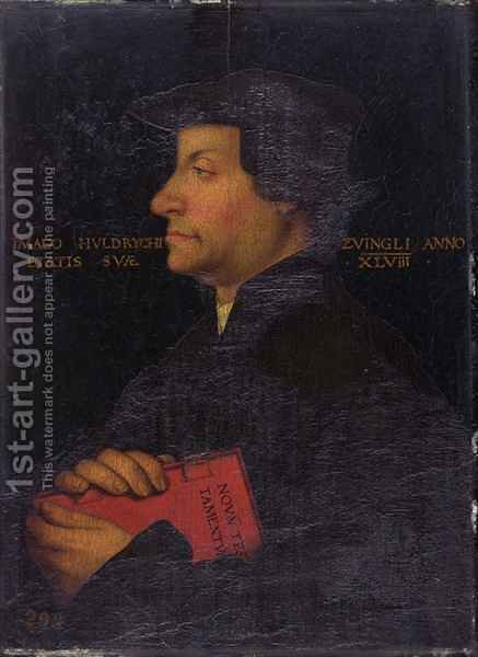 Portrait of Huldrych Zwingli (1484-1531) by (after) Asper, Hans - Reproduction Oil Painting