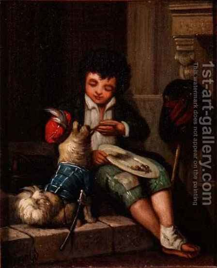 Boy with a dog by Harriet Arnold - Reproduction Oil Painting