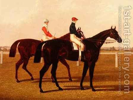 The Racehorses Charles XII and Euclid with Jockeys Up by Henry Hugh Armstead - Reproduction Oil Painting