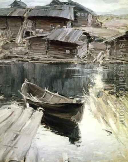 A Village in the North by Abram Efimovich Arkhipov - Reproduction Oil Painting