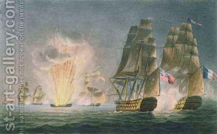 Capture of the Rivoli, 22nd February, 1812 by (after) Andrew, Captain John William - Reproduction Oil Painting