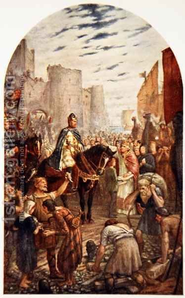 William Rufus at the Tower of London by (after) Anderson, Charles Goldsborough - Reproduction Oil Painting