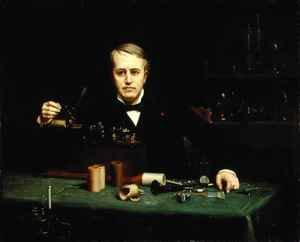 Neo-Classical painting reproductions: Thomas Alva Edison (1847-1931)