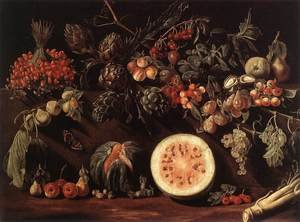 Famous paintings of Butterflies: Fruit, Vegetables and a Butterfly c. 1620