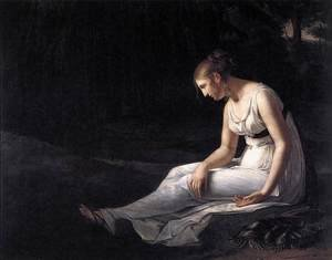 Neo-Classical painting reproductions: Melancholy 1801