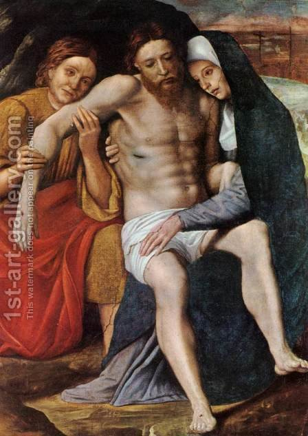 Deposition Of The Tears by Giovanni Francesco Caroto - Reproduction Oil Painting