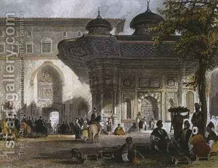 Imperial gate of Topkapi Palace and fountain of Sultan Ahmed III, Istanbul by Allote - Reproduction Oil Painting