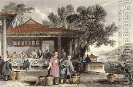 The Culture and Preparation of Tea, from 'China in a Series of Views' by (after) Thomas Allom - Reproduction Oil Painting