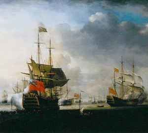 Neo-Classical painting reproductions: The Royal William leaving England