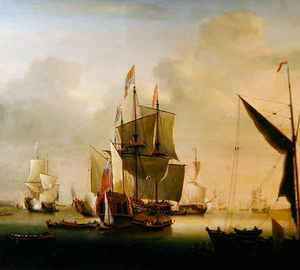 Neo-Classical painting reproductions: The Royal Caroline at Spithead
