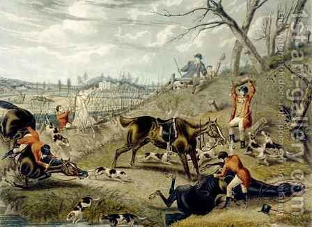 The Grand Leicestershire Fox Hunt by (after) Samuel Henry Gordon Alken - Reproduction Oil Painting