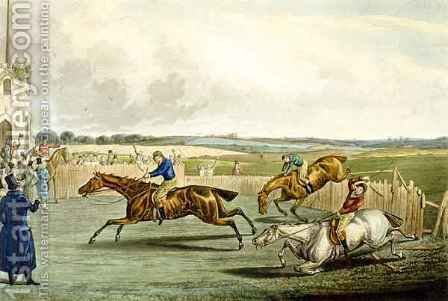 Forth Mile, from Steeplechasing by (after) Samuel Henry Gordon Alken - Reproduction Oil Painting