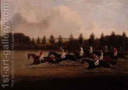Start of the Doncaster St. Leger by Henry Thomas Alken - Reproduction Oil Painting