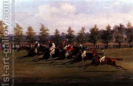 Racing Scene 2 by Henry Thomas Alken - Reproduction Oil Painting