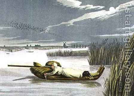 Sledging Working up to a Wake by Henry Thomas Alken - Reproduction Oil Painting