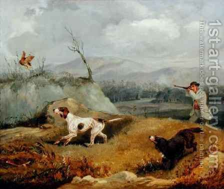 Grouse Shooting by Henry Thomas Alken - Reproduction Oil Painting