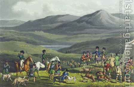 Sporting Meeting in the Highlands by Henry Thomas Alken - Reproduction Oil Painting