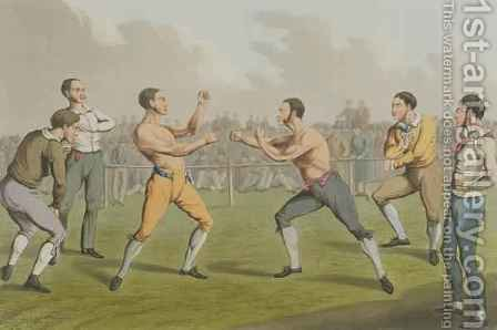 A Prize Fight by Henry Thomas Alken - Reproduction Oil Painting