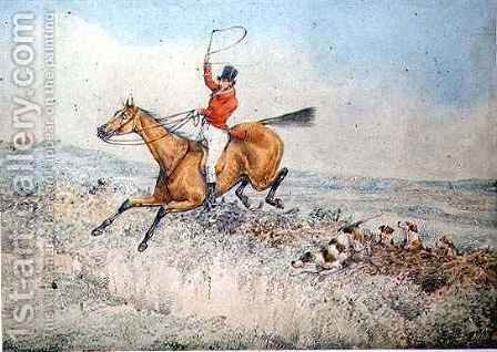 Fox hunting 2 by Henry Thomas Alken - Reproduction Oil Painting