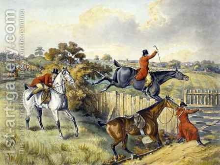 The Leap, from 'Foxhunting' by (after) Henry Alken - Reproduction Oil Painting