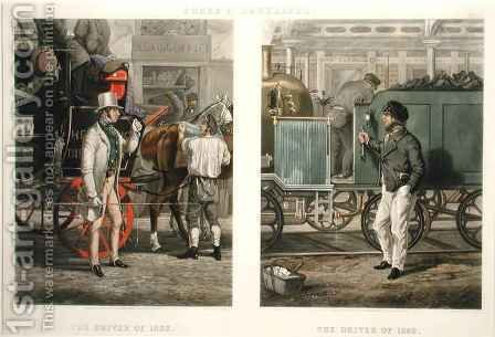 Fore's Contrasts The Driver of 1832, The Driver of 1852 by (after) Henry Alken - Reproduction Oil Painting