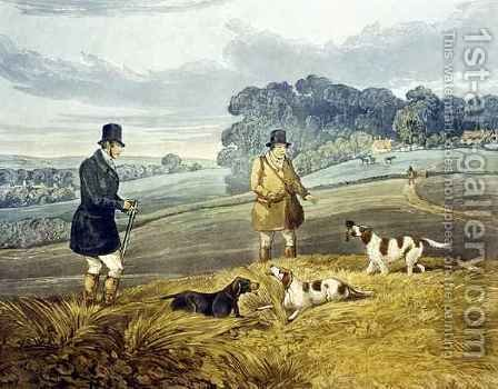Retrieving, plate from 'Partridge Shooting' by (after) Henry Alken - Reproduction Oil Painting