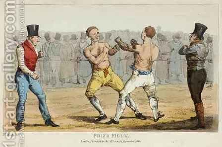 Prize Fight by (after) Henry Alken - Reproduction Oil Painting