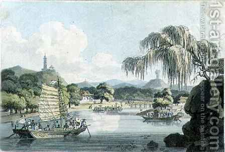View in the Eastern Side of the Imperial Park at Gehol, plate 4 from 'Travels in China' by (after) Alexander, William - Reproduction Oil Painting