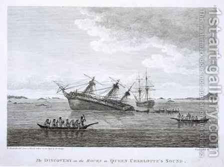 The Discovery on the Rocks in Queen Charlotte's Sound by (after) Alexander, William - Reproduction Oil Painting
