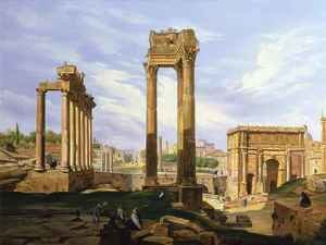 Neo-Classical painting reproductions: View of the Roman Forum