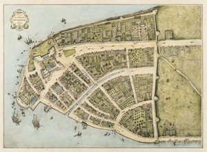 Neo-Classical painting reproductions: Redraft of The Castello Plan, New Amsterdam in 1660