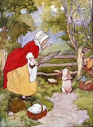 Illustration from 'The Beautiful Book of Nursery Rhymes, Stories and Pictures' 2