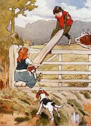 See-Saw Marjorie-Daw, illustration from 'The Beautiful Book of Nursery Rhymes, Stories and Pictures'
