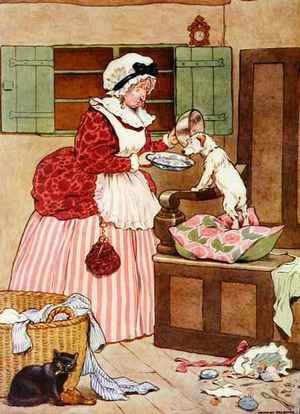 Old Mother Hubbard, illustration from 'The Beautiful Book of Nursery Rhymes, Stories and Pictures'