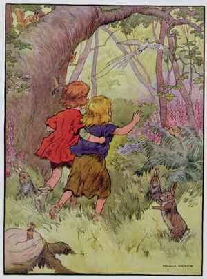 Hansel and Gretel, illustration from 'The Beautiful Book of Nursery Rhymes, Stories and Pictures'